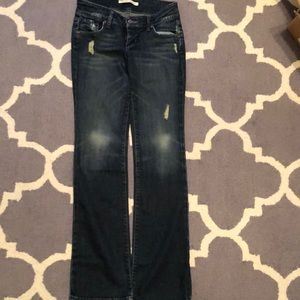 Freedom of choice boot cut  distressed jeans